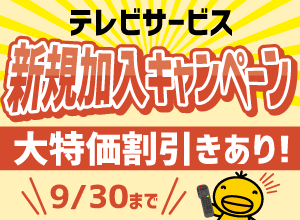 テレビサービス大特価キャンペーン!